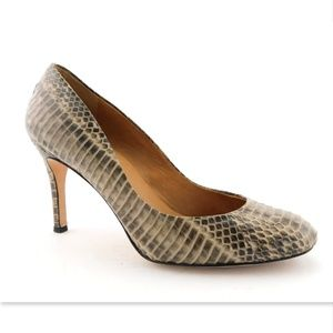 ANN TAYLOR Beige Snake Classic Heels Pumps 8.5